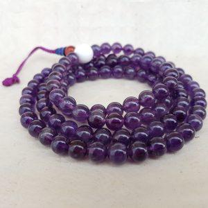 amethyst crystal mala rosary