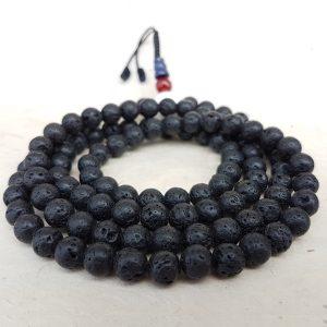 lava stone mala rosary