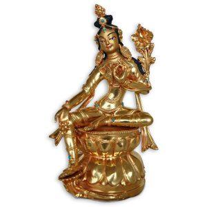 green tara statue copper gold