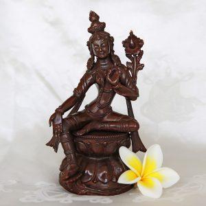 green tara statue copper