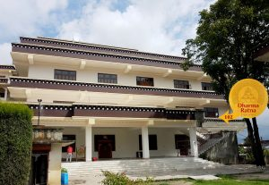 We are located above the new shrine-hall of Ka-Nying Shedrub Ling monastery, next to Rangjung Yeshe Institute administration