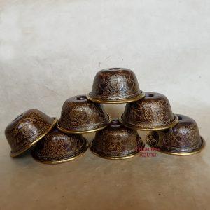 offering bowls set copper buddhist shrine