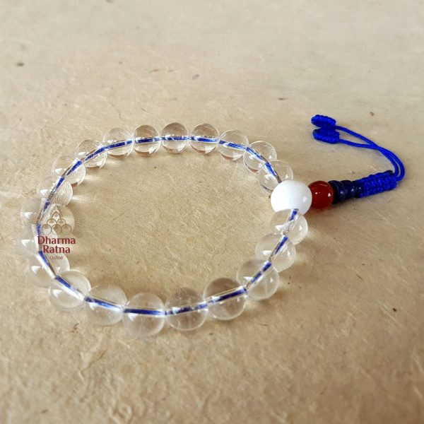 21 beads pure crystal bracelet wrist-mala buddhist rosary