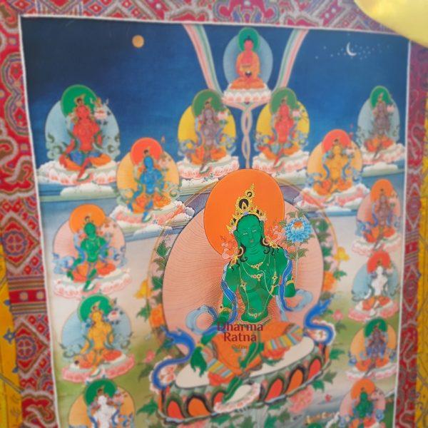 21 green tara thanka drolma outer sadhana