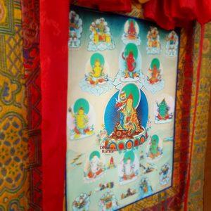 Lama Norlha Kyechok Tsulzang thanka premium Varanasi brocade