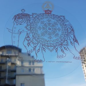 lama norlha enriching mandala sticker decal transparent kyechok tsulzang prosperity wealth deities