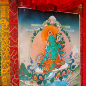 Single Green Tara thanka