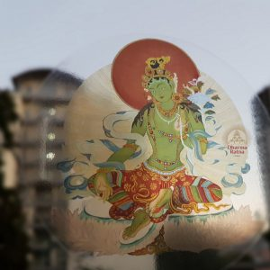 Green Tara decal transparent Buddhist sticker