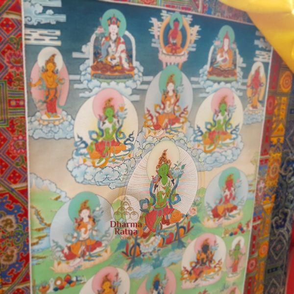 eight green tara thanka drolma inner sadhana