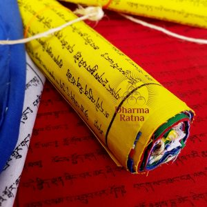 Buddhist prayer flags lungta cotton natural eco