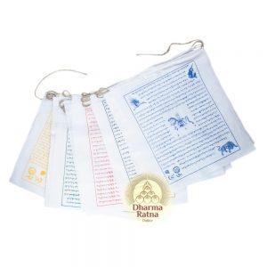 biodegradable cotton prayer-flags (lungta)
